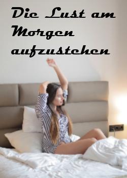 Frau morgens im Bett