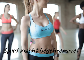 Frau macht Fitness Sport