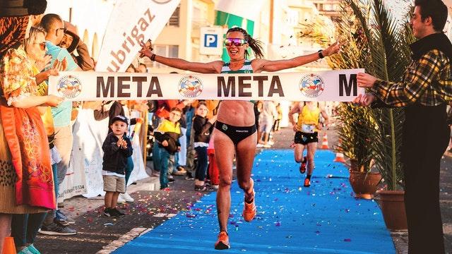 Ziel Einlauf Marathon